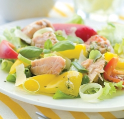 Ensalada.de.salmon.al.grill