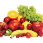 Frutas maduras y frescas
