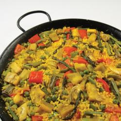 Paella.and.vegetables