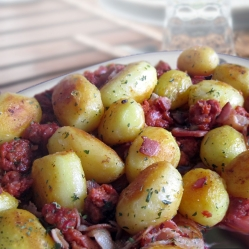 potatoes with chorizo ~ papas con chorizo