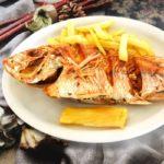 Pescado entero frito