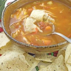 Sopa.picante.de.pollo.y.cilantro