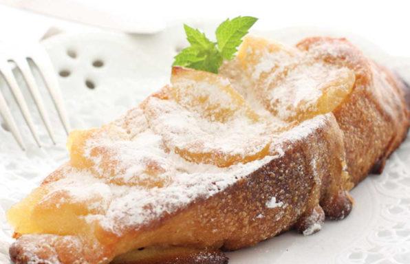 Tostadas francesas con manzanas