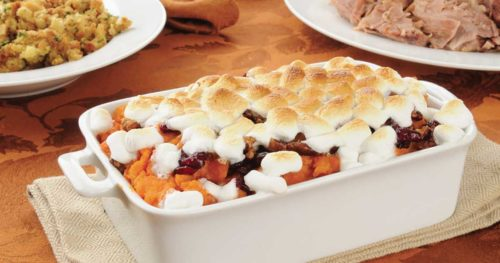 papas dulces con marshmallows ~ sweet potatoes with marshmallows